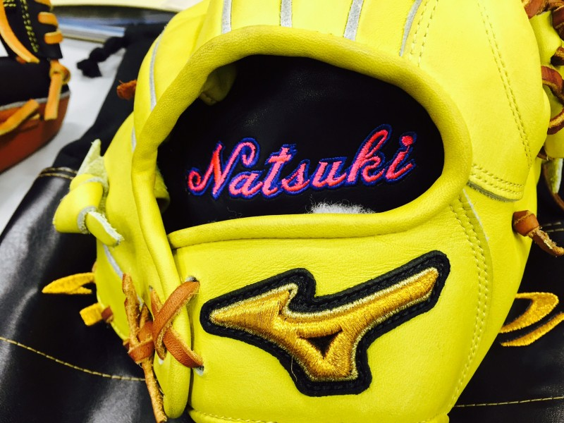 野球キャッチャーミット グローブ 刺繍加工 高校野球 ソフトボール
